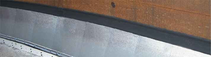 Hmt Products Floating Roof Seals External Floating Roof Seals Secondary Seals Flex A Seal Secondary Seal